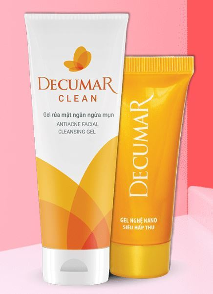 bộ sản phẩm trị mụn decumar