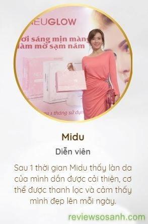 diễn viên Midu thấy làn da cải thiện sau khi dùng neuglow c-min