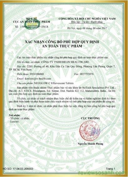 giấy chứng nhận của viên trắng da neuglow c-min