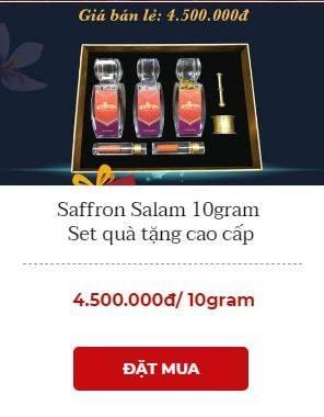 hộp quà tặng saffron