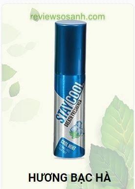 xịt thơm miệng staycool hương bạc hà