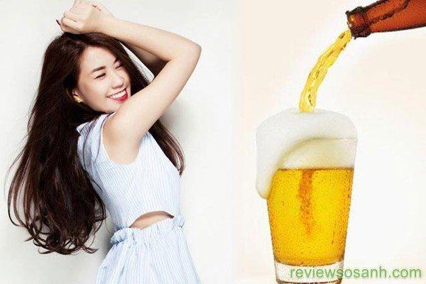 Bia giúp làm trắng da nhanh chóng