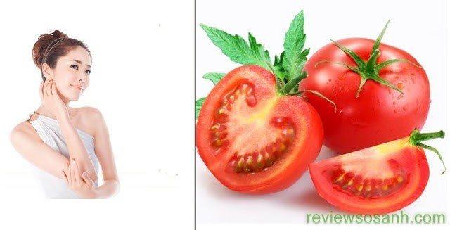 Làn da trở lên trắng hồng, mịn màng sau khi tắm trắng toàn thân bằng cà chua.