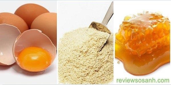 Sử dụng cám gạo, lòng trắng trứng và mật ong để làm trắng da