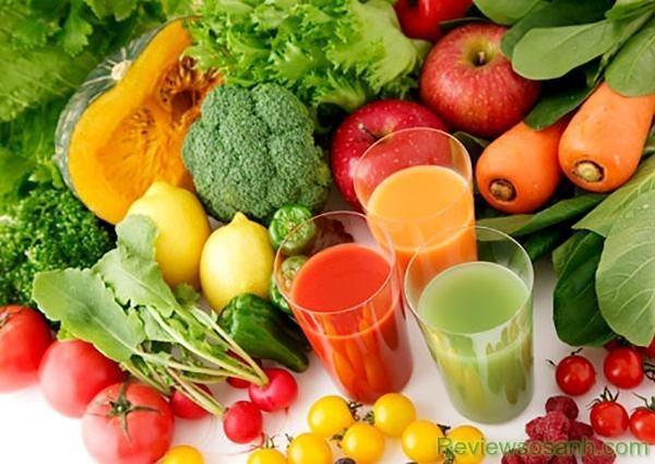 Tăng cường bổ sung các loại rau, quả và trái cây cho da
