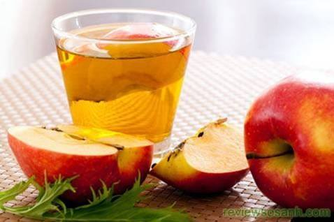 chống rụng tóc bằng rượu táo