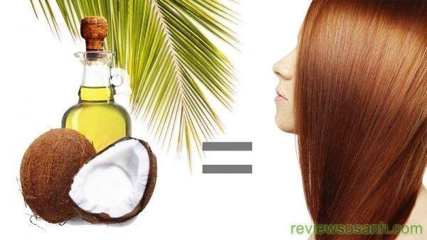 kích thích tóc dài nhanh với dầu dừa