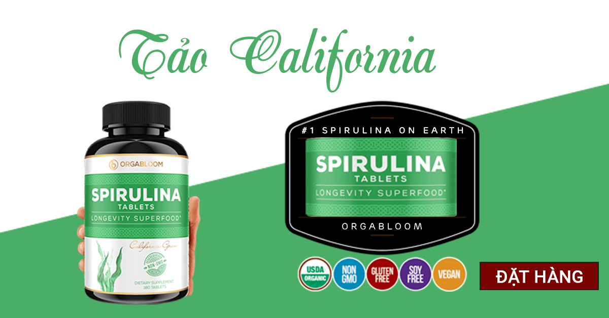 tảo xoắn spirulina california