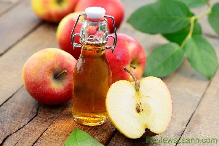 Dấm táo được sử dụng nhiều trong các công thức trị nám