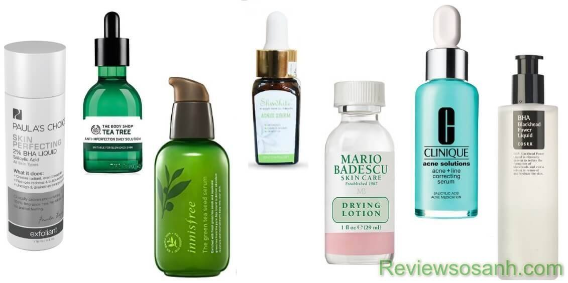 Lựa chọn các sản phẩm đặc trị mụn phù hợp với da