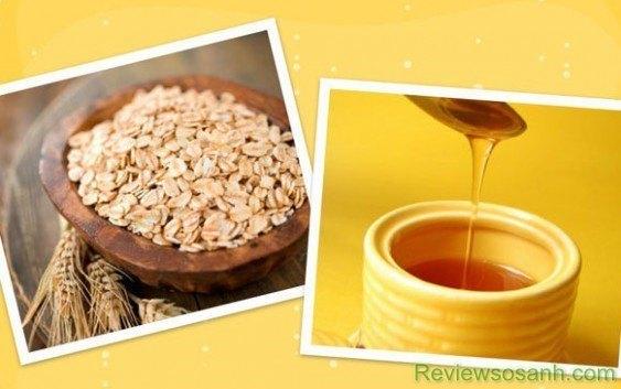 Sử dụng mật ong và yến mạch cũng là cách được nhiều người sử dụng