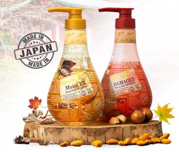 dàu gội trị rụng tóc Ayurbio Nhật Bản