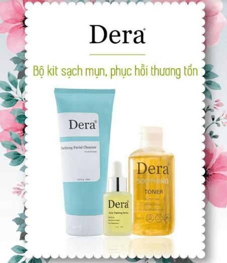 bộ kit trị mụn sinh học Dera