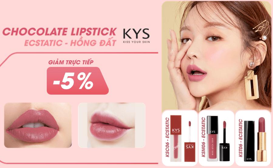 chocolate lipstick ecstatic - hồng đất