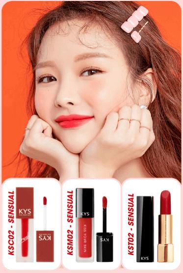chocolate lipstick sensual - đỏ lạnh
