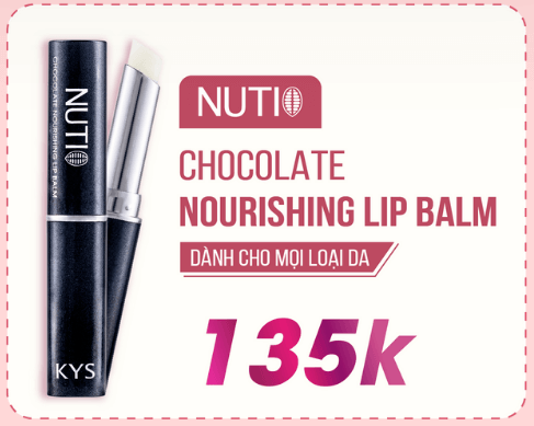 nuti chocolate nourishing lip balm