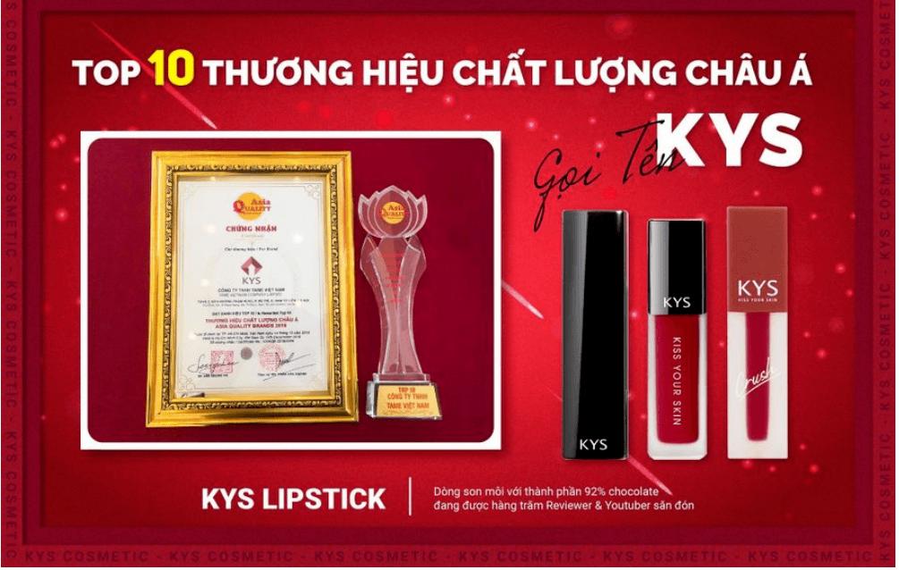 son kys top 10 thương hiệu châu á