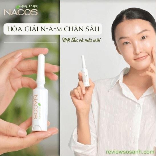kem trị nám nacos có tác dụng gì