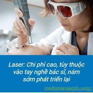 nhược điểm của trị nám bằng laser