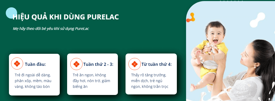 hiệu quả khi sử dụng pure lac