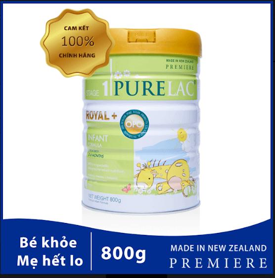 purelac cho trẻ từ 0-6 tháng