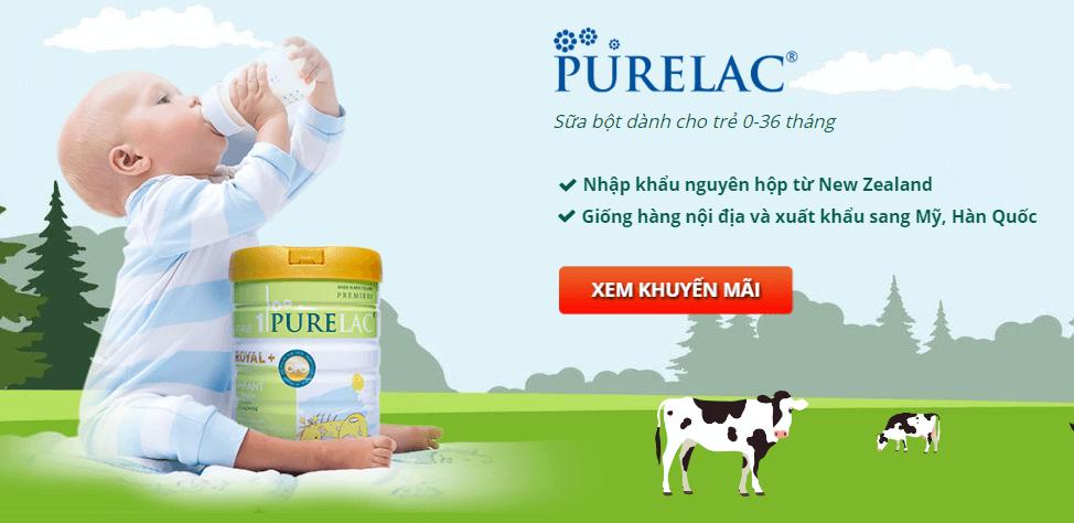 sữa bột purelac nhập khẩu từ newzealand
