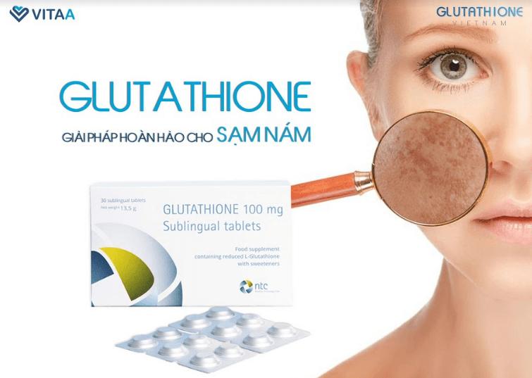 đánh giá viên ngậm trắng da glutathione