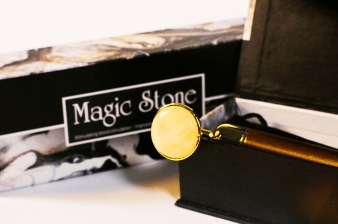 Máy massage mặt bằng đá cẩm thạch vàng magic stone
