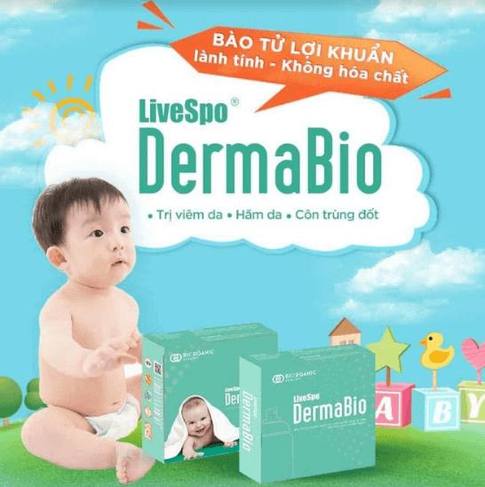 bào tử lợi khuẩn dermabio xịt lên da
