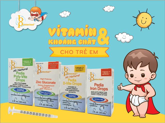bprotected bổ sung vitamin và khoáng chất cho trẻ