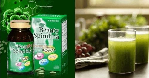 combo 3 hộp tảo beauty spirulina nhật bản
