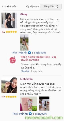 khách hàng bình luận về sản phẩm