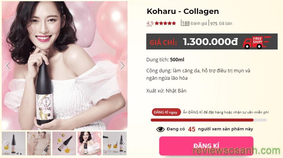 koharu collagen mua ở đâu
