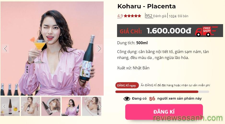 koharu placenta giá bao nhiêu