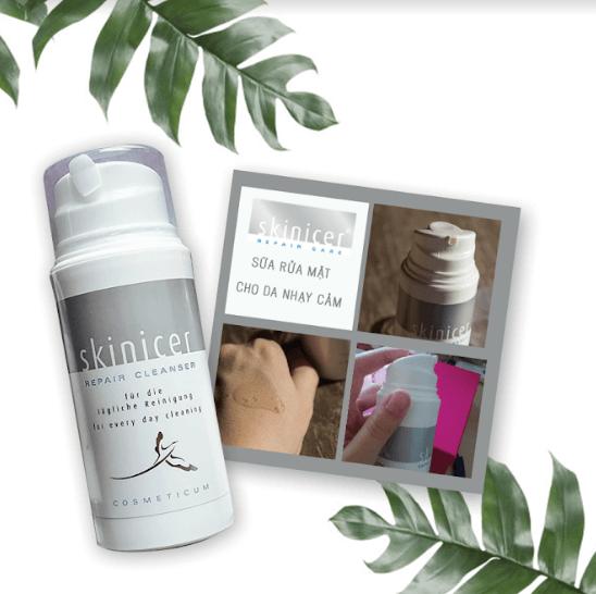 sữa rửa mặt dành cho da nhạy cảm skinicer