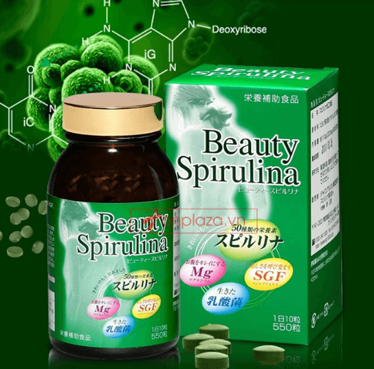 tảo beauty spirulina Nhật Bản