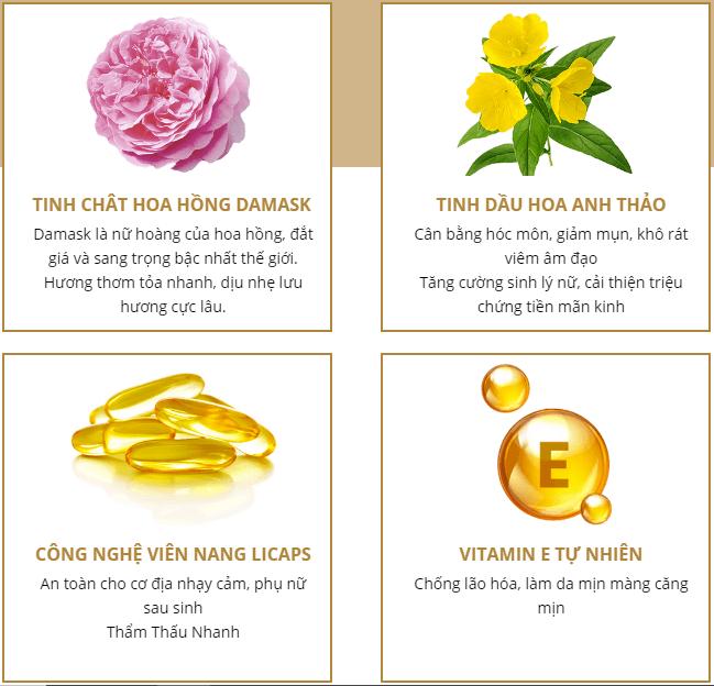 thành phần viên uốn tỏa hương bella fora nhật bản