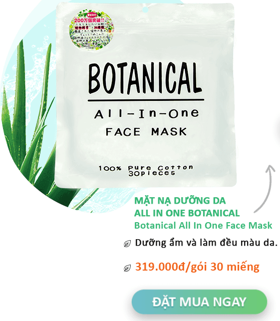 mặt nạ dưỡng da all in one botanical face mask