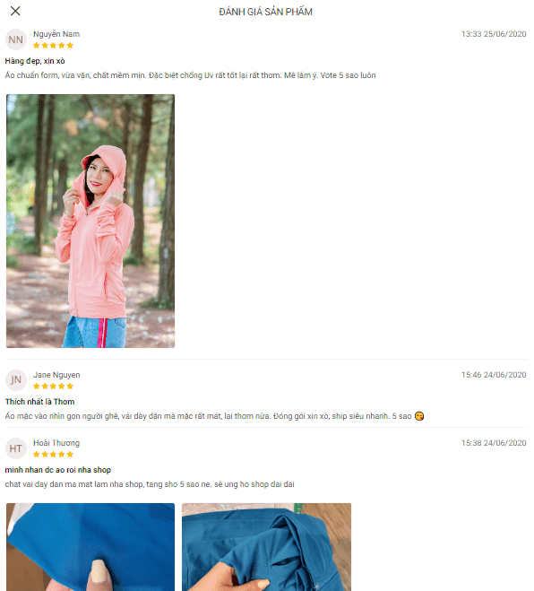 review khách hàng về áo khoác chống nắng laroma cho nữ