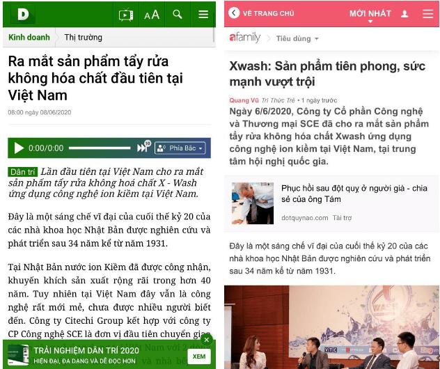 báo chí đưa tin về xịt xwash