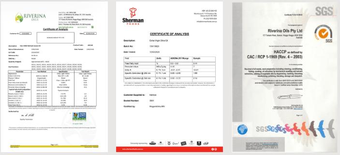 giấy chứng nhận sản phẩm dầu oliu hạt cải kankoo