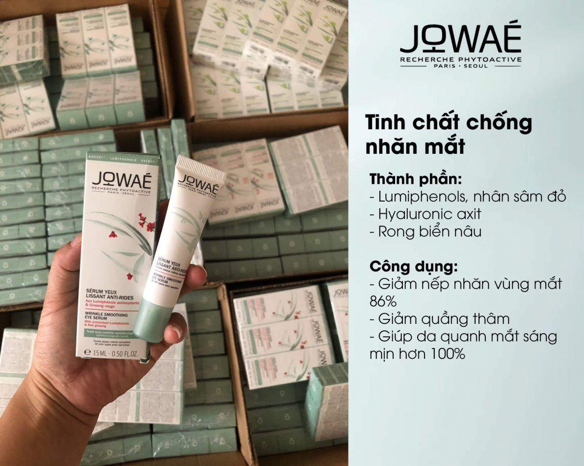 công dụng tinh chất chống nhăn jowae