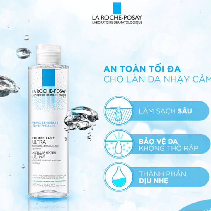 Nước tẩy trang La Roche Posay Micellar Water Ultra Sensitive Skin
