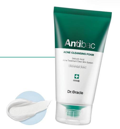 sữa rửa mặt cho da dầu mụn antibac acne cleansing foam dr oracle