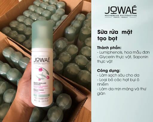 công dụng sữa rửa mặt Jowae