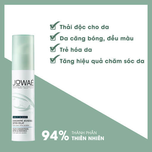 công dụng Tinh chất Jowae Youth Concentrate Detox & Radiance