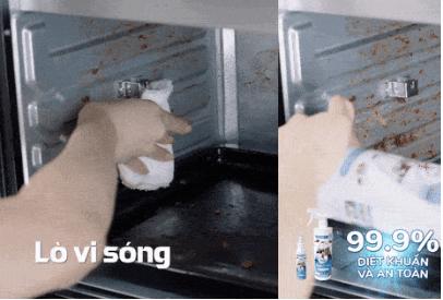 vệ sinh lò vi sóng bằng xwash for kitchen