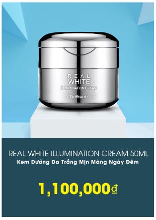 kem trắng da real white giá bao nhiêu