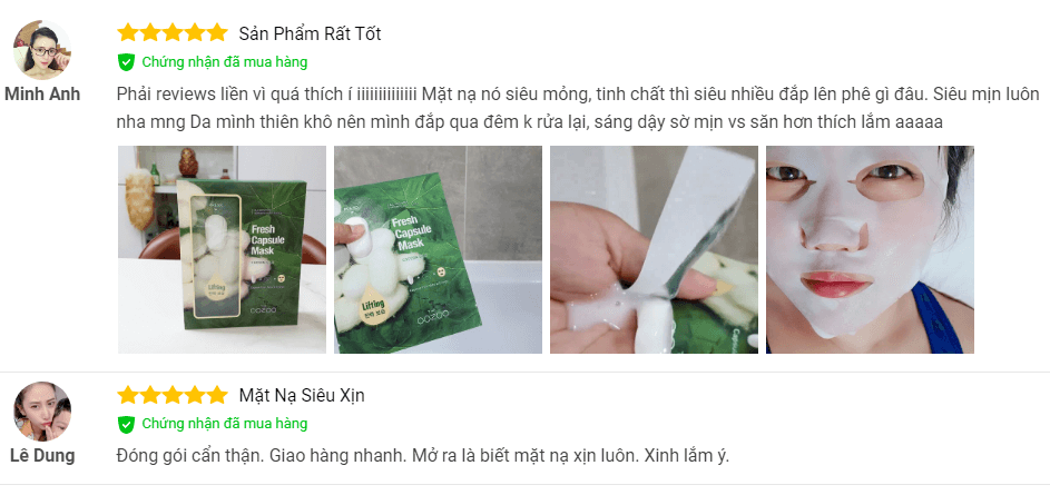 review mặt nạ the oozoo