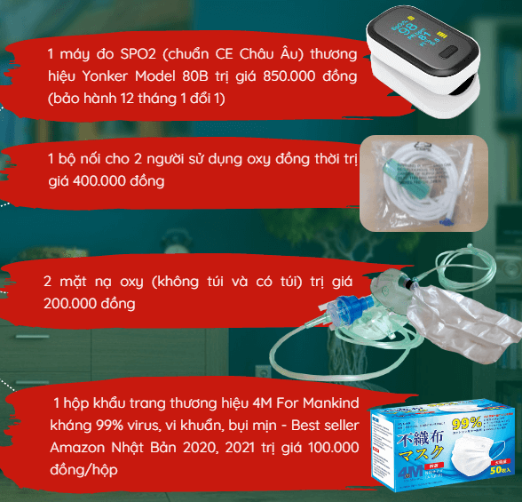 combo quà tặng khi mua máy tạo oxy dedakj